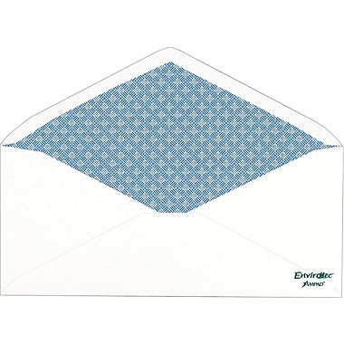 Ampad® Envirotec 100% Recycled Security-Tint #10 Envelopes, 500/Box