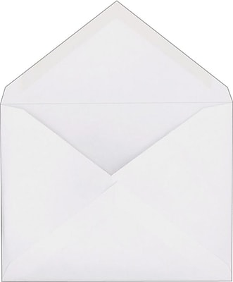 Staples Invitation Envelopes with Gummed Closure, White, 250/Box (266767/19250)