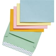 Staples® EasyClose Invitation Envelopes, Assorted Pastels, 100/Box