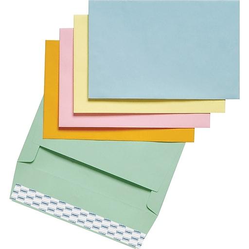 staples easyclose invitation envelopes assorted pastels 100 box
