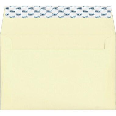 Staples® EasyClose Invitation Envelopes, Ivory, 100/Box