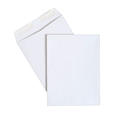 Staples® Catalog Envelopes, Gummed Closure, White Wove, 100/Box