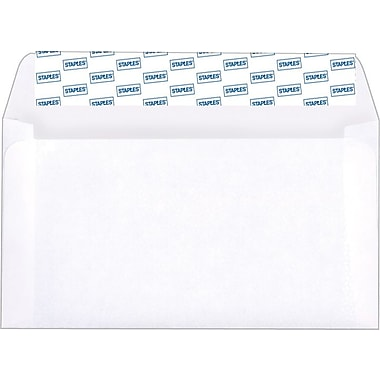 Staples EasyClose #6-3/4 Envelopes, 100/Box