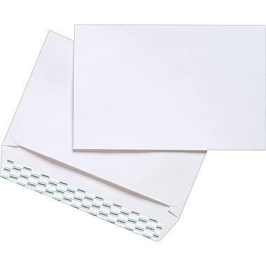 Staples® EasyClose Side-Opening Booklet Envelopes, White Wove