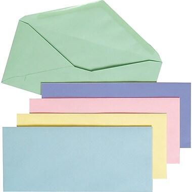 Staples® #10, Pastel-Colored Gummed Envelopes, 50/Pack