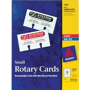 "Avery Laser Rotary Cards, White, 02-1/6"" x 4"", 400/Pack (05385)"