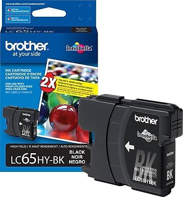 Brother Genuine LC65HYBK Black High Yield Original Ink Cartridge