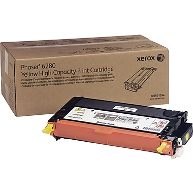 Xerox Phaser 6280 Yellow Toner Cartridge (106R01394), High Yield