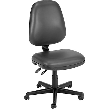 OFM Anti Bacterial Faux Leather Computer and Desk Office Chair, Armless, Charcoal (811588012640)