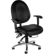 OFM Hi-Back Vinyl Computer and Desk Office Chair, Black, Adjustable Arm (811588013050)