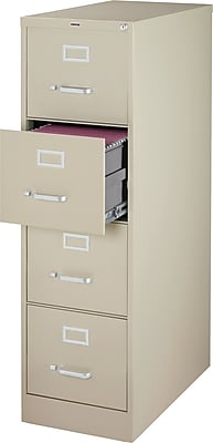 staples 4 drawer letter size vertical file cabinet putty 26 5 inch rh staples com used metal 4 drawer file cabinets used metal 4 drawer file cabinets