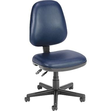 OFM – Chaise d'ordinateur et de bureau en similicuir antibactérien, sans accoudoirs, bleu marine (811588012657)