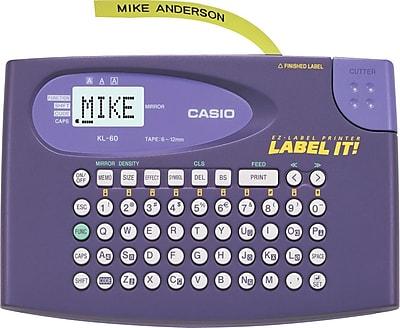 Casio® KL60SR Label Maker, Each (KL60SR-UST)