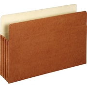 "Staples File Pockets, 3.5"" Expansion, Legal Size, Brown, 25/Box (1526ES)"