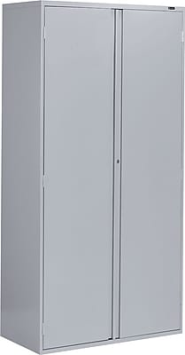 Global 9300 Series Economy Steel Storage Cabinets, Full Pull Handle, Light Gray, 72