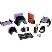 Staples Black Plastic Desk Collection (Recycled) Vertical Sorter (DPS03571)