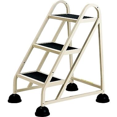 Three-Step Stop-Step Aluminum Ladder, 21 x 26 3/4 x 31 3/4, Beige