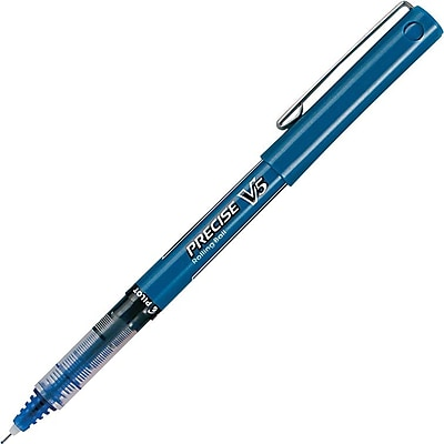 Pilot Precise V5 Premium Rolling Ball Stick Pens, Extra Fine Point, Blue, 12/Pack (35335)