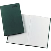 """National® Emerald Series Record Book, Hard Cover, Bound, 12 1/4"""" x 7 1/4"""", 300 Numbered Pages"""