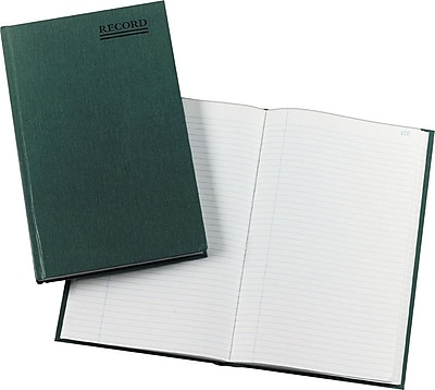 National® Emerald Series Record Book, Hard Cover, Bound, 12 1/4