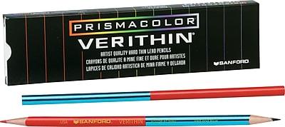 Prismacolor® Verithin® Colored Pencils, 2 mm, Blue/Red, 1/Dozen (2456)