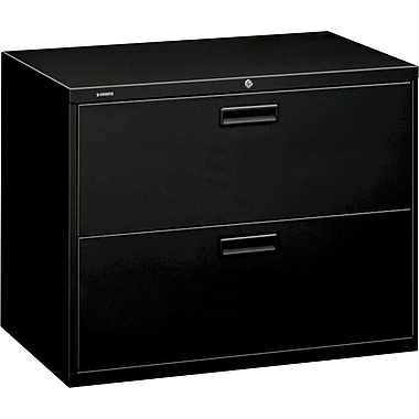 Attractive HON Brigade 2 Drawer Lateral File, Black,Letter/Legal, 36u0027u0027