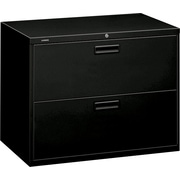 HON Brigade 2 Drawer Lateral File Cabinet, Letter/Legal, Black, 36''W (H582LP)