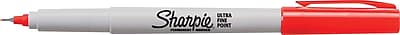Sanford Sharpie Permanent Markers, Ultra Fine Point, Red, 1/Pk