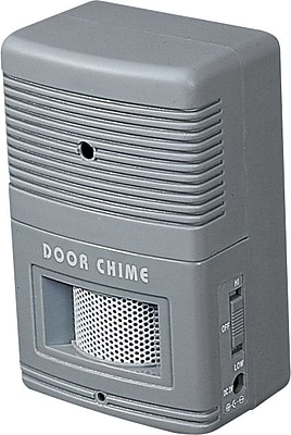 Tatco Visitor Arrival/Departure Chime, Battery Operated, Gray