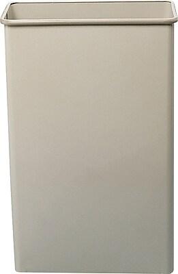 Safco® 22-Quart Rectangular Fire-Safe Wastebasket, Sand