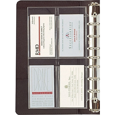 Day Timer Business Card Holders Desk Size