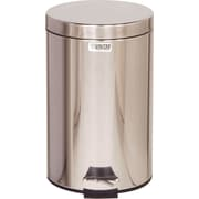 United Receptacle Medi-Can™ Steel Step Can, 3-1/2-Gallon, Powder Coated/Stainless Steel