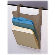 "Deflecto Cubicle DocuPocket® Files, 3 Pockets, Letter-Size, Smoke, 13"" x 4"" x 7"", 3/PK"