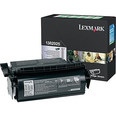 Lexmark 1382925 Black Return Program Toner Cartridge, High-Yield (1382925)