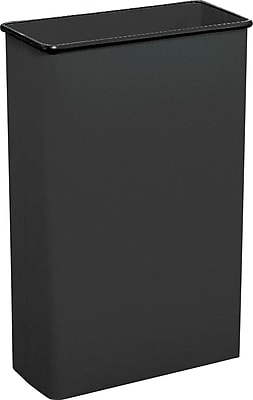 Safco® 22-Gallon Rectangular Fire-Safe Wastebasket, Black