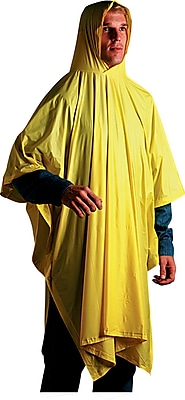 Unisan Disposable Rain Poncho, Yellow, 52