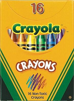 Crayola® Tuck Box Crayons, 16/Box
