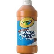Crayola Washable Paints, Orange, 16 oz. (54-2016-036)