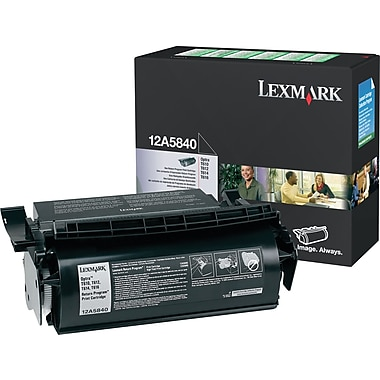 Lexmark 12A5840 Black Toner Cartridge (12A5840)