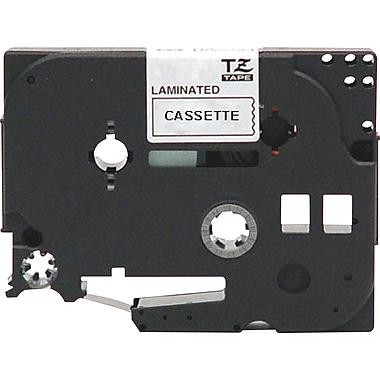Brother - Ruban pour étiqueteuse, 12 mm, noir sur transparent, TZEAF131, sans acide
