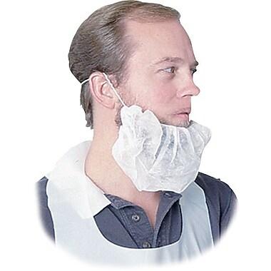 Disposable Beard Net, Spun-Bonded, White, 100/Pack