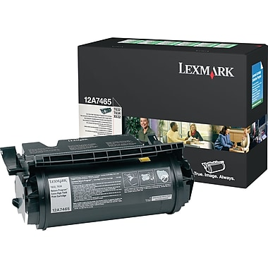 Lexmark 12A7465 Black Toner Cartridge, Extra High Yield (12A7465)