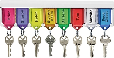 SecurIT® PMC0499 Color-Coded Key Tag Rack, White