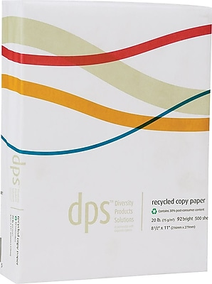 Diversity Product Solutions by Staples® 30% Recycled 3 Hole Punch Paper, LETTER-Size, 93+ US Brightness, 20 lb.