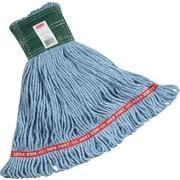 "Rubbermaid Web Foot® Mop, Cotton/Synthetic, Medium, Blue, 5"" Headband"