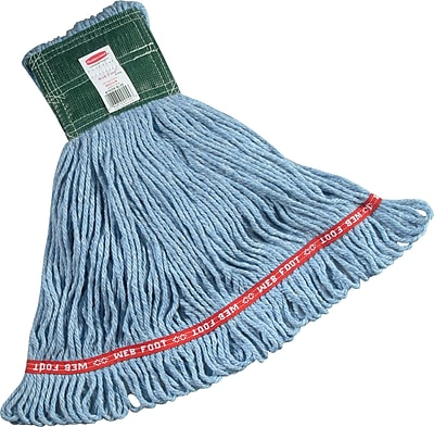 Rubbermaid Web Foot® Mop, Cotton/Synthetic, Medium, Blue, 5