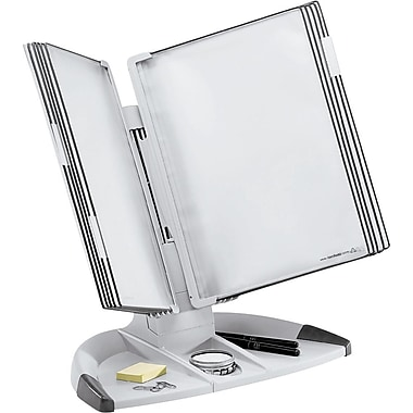 Tarifold Desktop Reference Display Unit with 10 Pockets, Gray