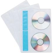 Staples® CD/DVD Storage Binder Sheets, White/Clear, 10/Pk
