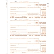"""TOPS® 1099S Tax Form, 1 Part, Federal - Copy A, White, 8 1/2"""" x 11"""", 50 Sheets Per Pack"""