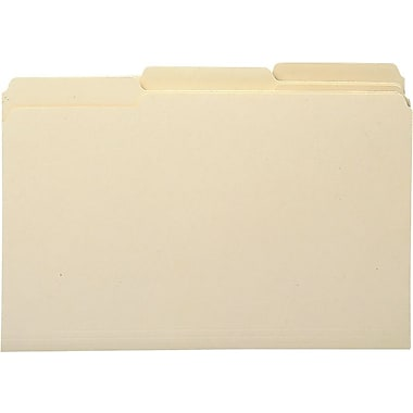 Staples Heavyweight Manila File Folders, 3 Tab, Legal, 50/Box